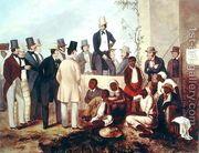 American Slave Market, 1852  by Taylor