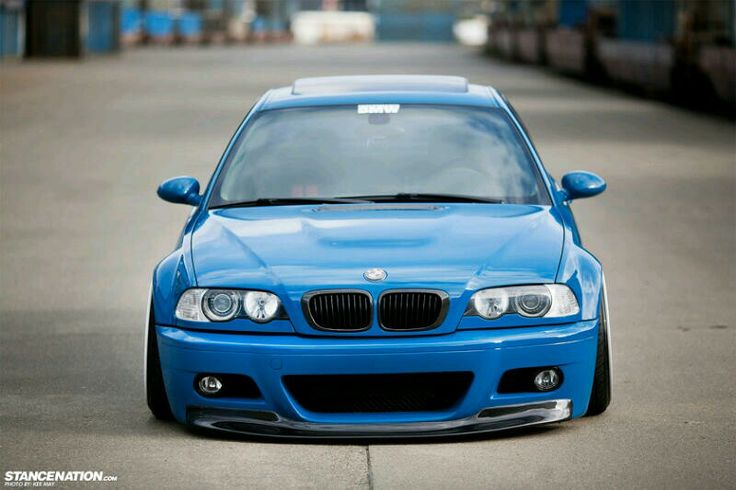 Bmw E46 M3 Blue Front Stance Bmw Ultimate Driving