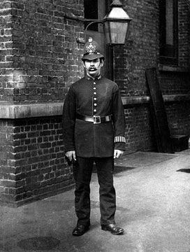 City of London police officer uniform from the late 19th century.
