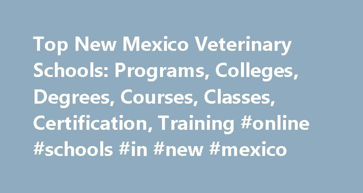 Top New Mexico Veterinary Schools: Programs, Colleges, Degrees, Courses, Classes, Certification, Training #online #schools #in #new #mexico http://trading.nef2.com/top-new-mexico-veterinary-schools-programs-colleges-degrees-courses-classes-certification-training-online-schools-in-new-mexico/  # Veterinary Schools in New Mexico New Mexico contains five schools that offer veterinary programs. Navajo Technical College. the highest-ranking veterinary school in NM, has a total student population…