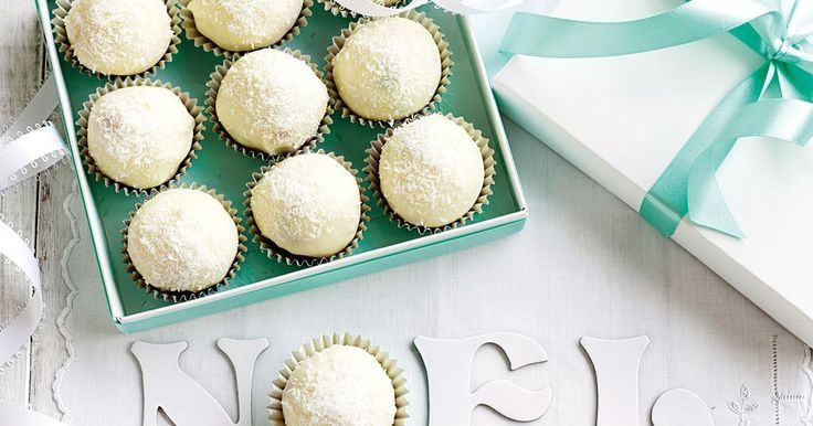 For perfect presents this Christmas, package up these sweet white chocolate truffles.