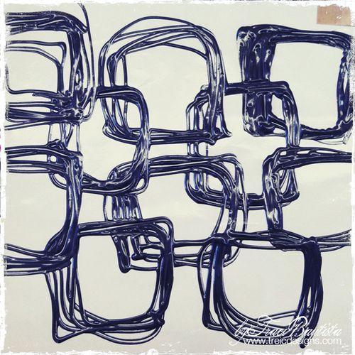 artJOURNALING quotidiano: stencil fatti a mano di colla a caldo - creativityUNLEASHED da Traci bautista: