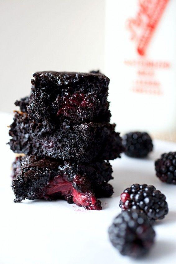 Salted Caramel Blackberry Brownies
