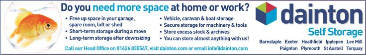 Dainton Self Storage advert for Devon and Cornwal storage facilities http://www.dainton.com/self-storage.html