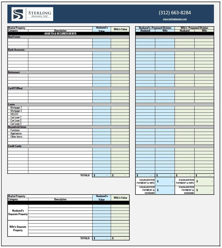 Divorce Asset Spreadsheet Divorce Budget Spreadsheet Template Monthly Budget Spreadsheet