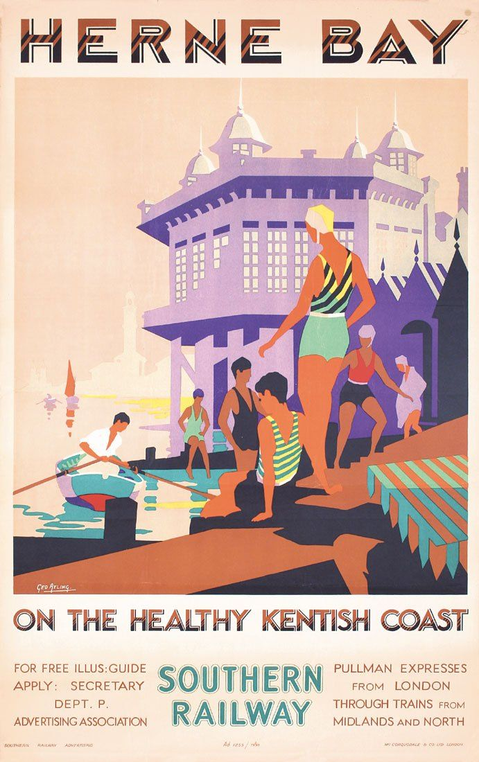 Herne Bay, on the healthy Kentish Coast - Southern Railway - George Ayling, ca. 1928.17