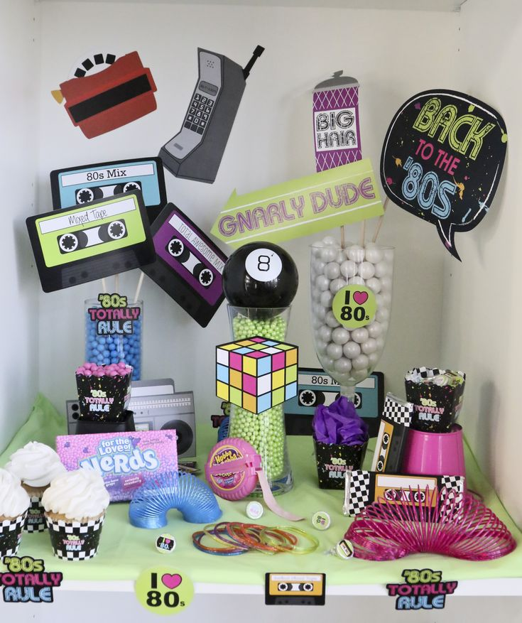 Retro 80s Party Ideas - Totally 80s Party, Awesome 1980s Decorations from Big Dot of Happiness