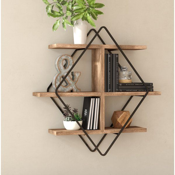 Whether You Re Putting Small Succulents On Display Or Creating A Space To Show Off Framed Photos Thi Industrial Wall Shelves Modern Wall Shelf Wood Wall Shelf