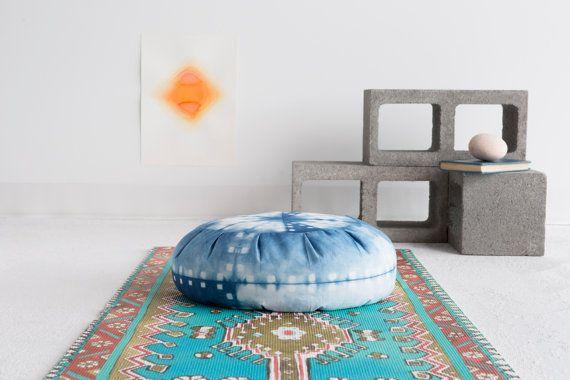 Hey, I found this really awesome Etsy listing at https://www.etsy.com/listing/213857990/indigo-dyed-zafu-meditation-cushion