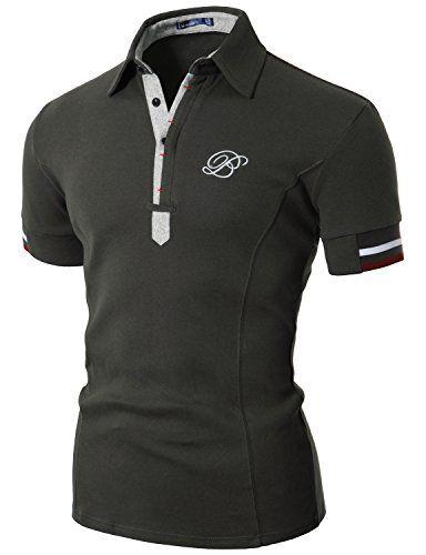 Doublju Mens Polo T-shirts with Short Sleeve