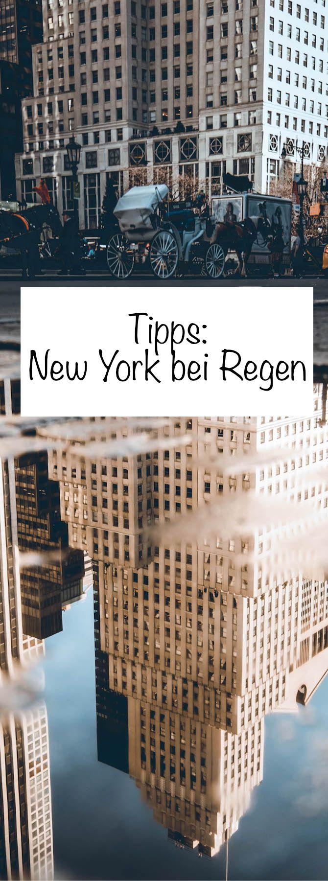 New York bei Regen: Meine Tipps für Regentage