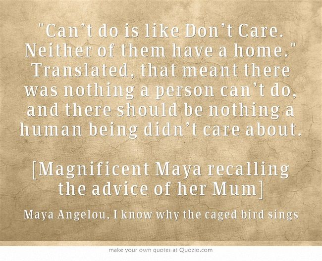 the resiliency of the human spirit in i know why the caged bird sings by maya angelou About ka hancock: ka was born and her underlying faith in the resiliency of the human spirit shines through in her ― maya angelou, i know why the caged bird.