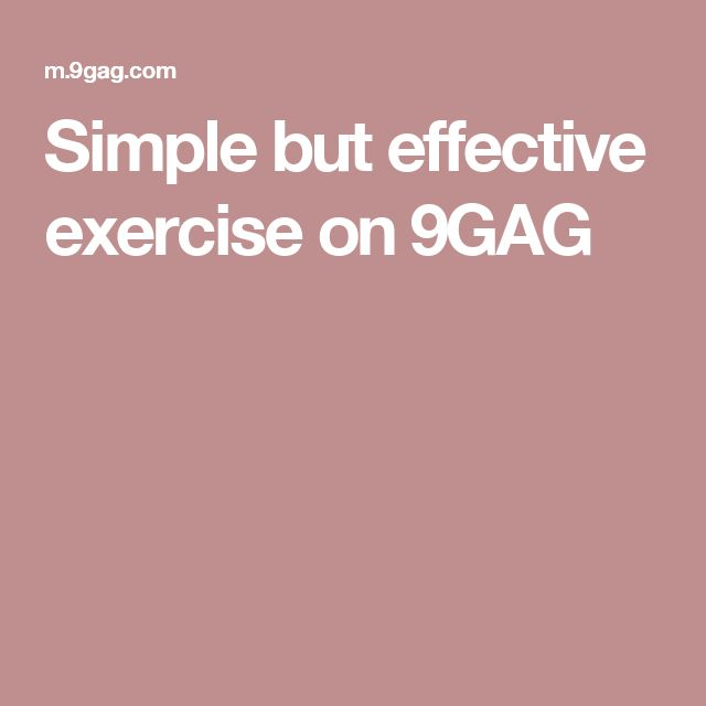 Simple but effective exercise on 9GAG
