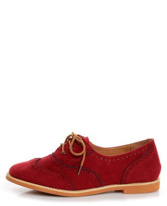 Lisa 1 Red Velvet Brogue Lace-Up Oxford Flats - $25.00: Brogue Lace Up, Red Oxfords, Red Flats, Oxford Flats, Red Velvet, Velvet Oxfords, Flat Shoes, Lace Up Oxford, Velvet Brogue