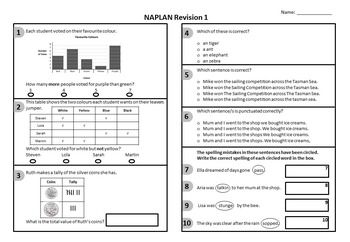 These 12 quizzes can be used one per day until NAPLAN in term 2 or one per week from the start of the year to revise all the concepts year 3 students need to know. They allow students to become familiar with the question structure providing them with the fullest chance to display their ability in the test.