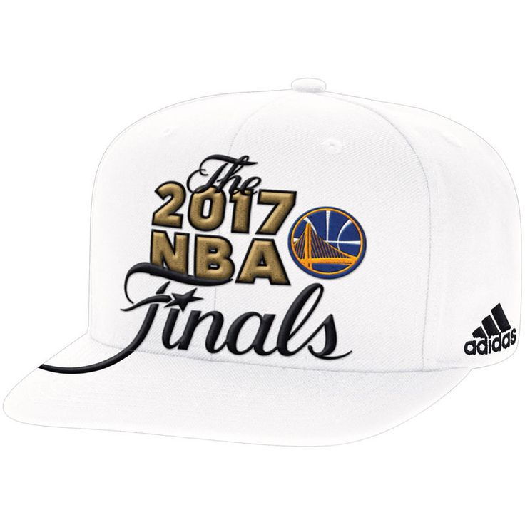Golden State Warriors adidas 2017 Western Conference Champions Locker Room Snapback Adjustable Hat - White