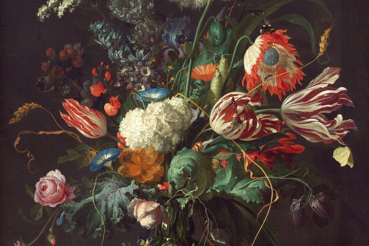 Vase of Flowers by de Heem Mural, custom made to suit your wall size. Custom design service and express delivery available.