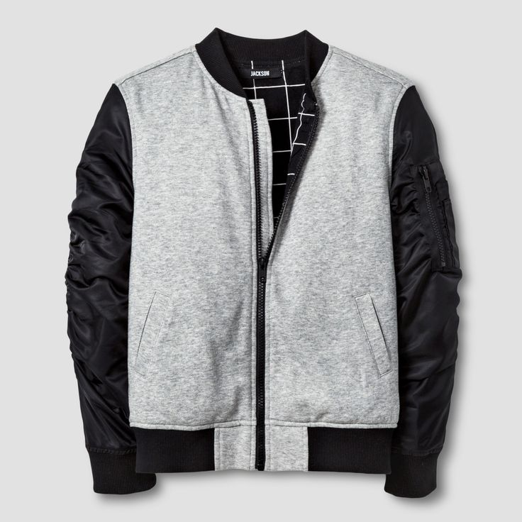 Boys' Bomber Jacket - Heather Gray XS