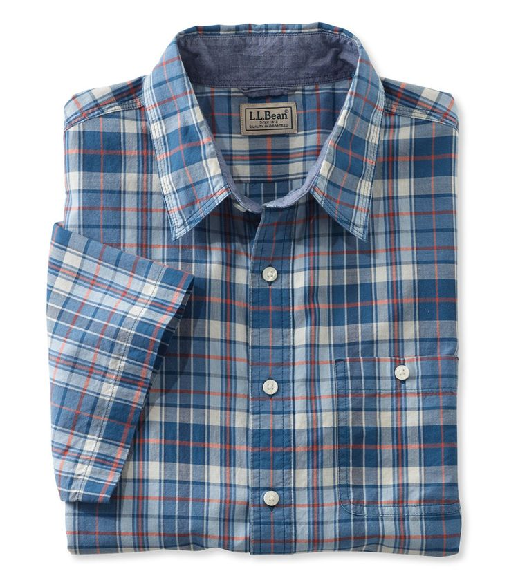 Bean's Madras Shirt, Slightly Fitted Short-Sleeve