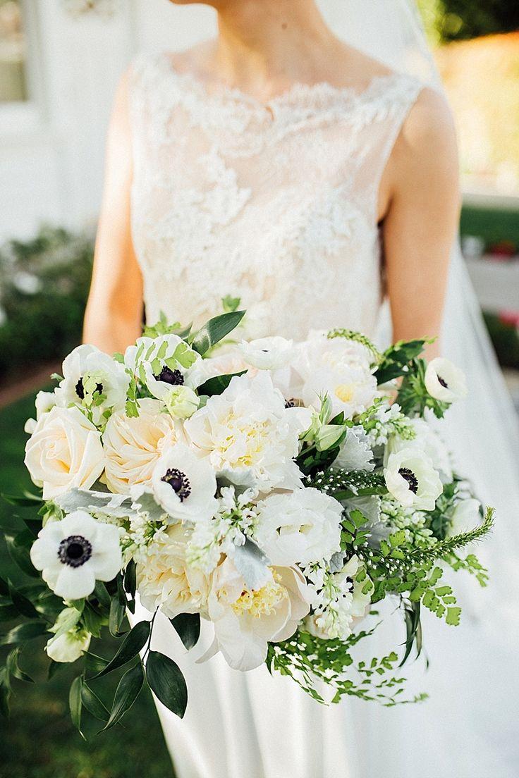 Modern Nautical Bridal Shoot Anemone BouquetBridal