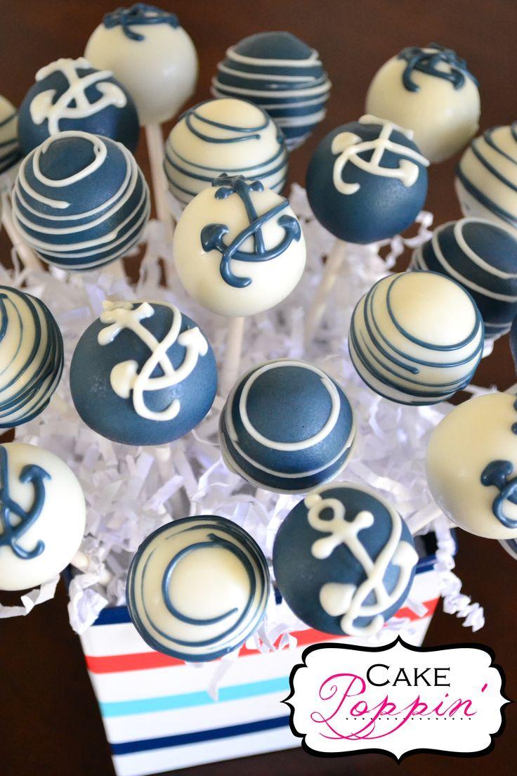 Navy Cake Pops  www.facebook.com/cakepoppin