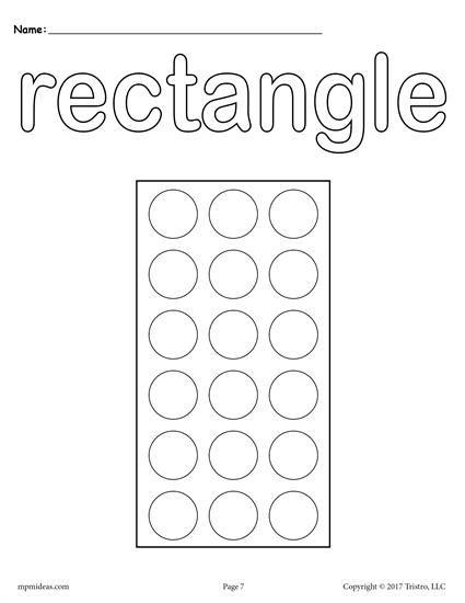 12 Shapes DoADot Printables
