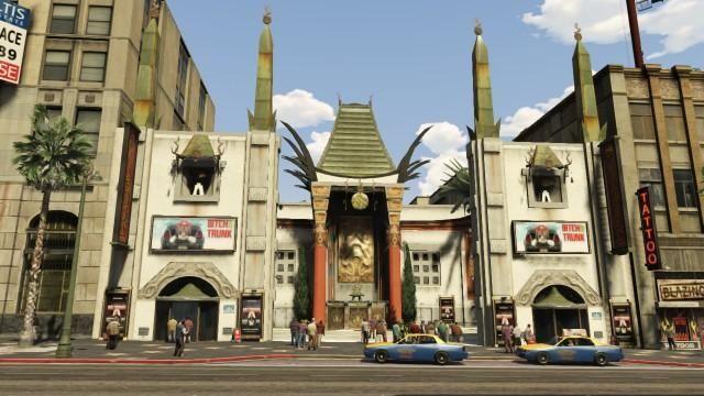 Grand Theft Data — Los Santos Landmarks Map — Oriental Theater, Vinewood Blvd, Vinewood