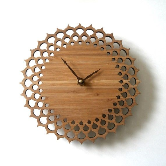 another wooden clock