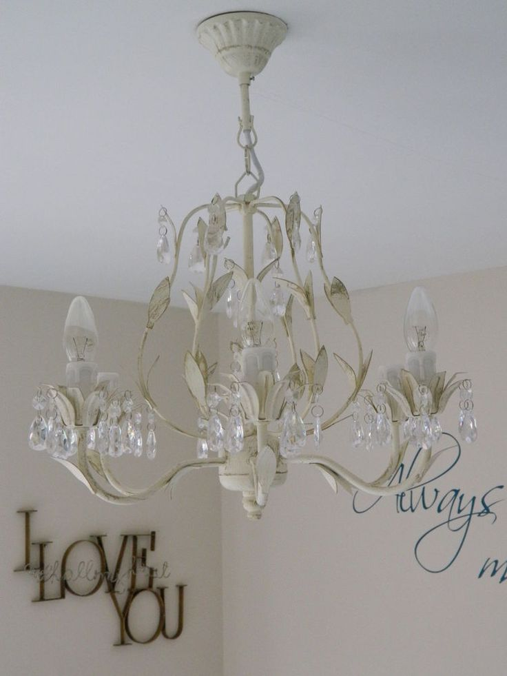bedroom light fitting large chandelier light fitting shabby vintage chic 10517
