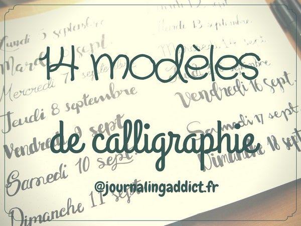14 modèles de lettrage pour embellir votre bullet journal. Osez la calligraphie dans vos carnets et bujos. Mon bujo tout beau :)