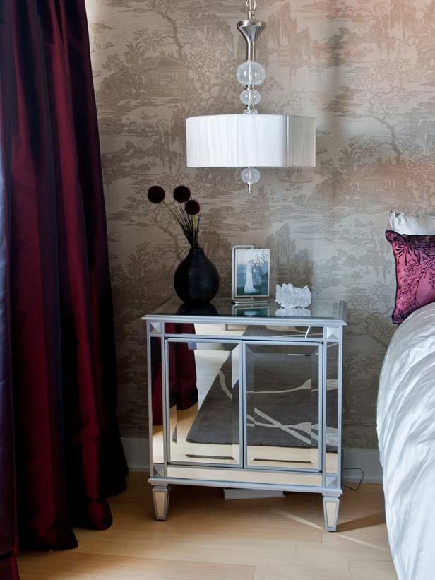 opulent ideas modern side tables. Old School Glamour This mirrored nightstand echoes the opulent finishes  used throughout this bedroom designed 50 best Nightstand display images on Pinterest Bedrooms Bedroom