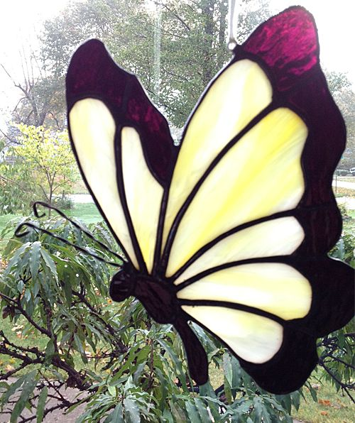 stained glass butterfly panels - Google Search