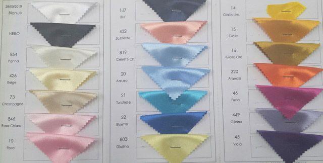 #tessuto #raso #carnevale ideale per confezione abiti e #costumi scenici. In diverse colorazioni brillanti, tutte in tinta unita.