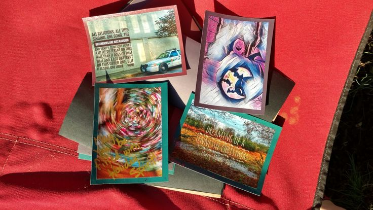 New original handmade holiday postcards for sale! 2$ ea. #handmadepostcards  #postcards #postcardswap #greetingcards #tennesseeart #nashvilleart #artforsale #colorfulart