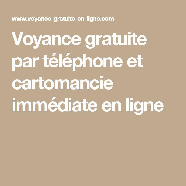 Voyance gratuite par téléphone et cartomancie immédiate en ligne