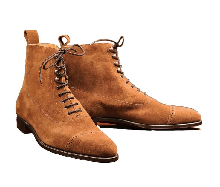 New Handmade Tan Suede Leather Ankle Boots, Formal Party Boots For Men's | eBay