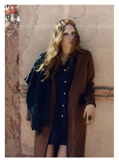 Day Briony coat and Day Tender scarf from the AW14 collection featured in the September ELLE issue.