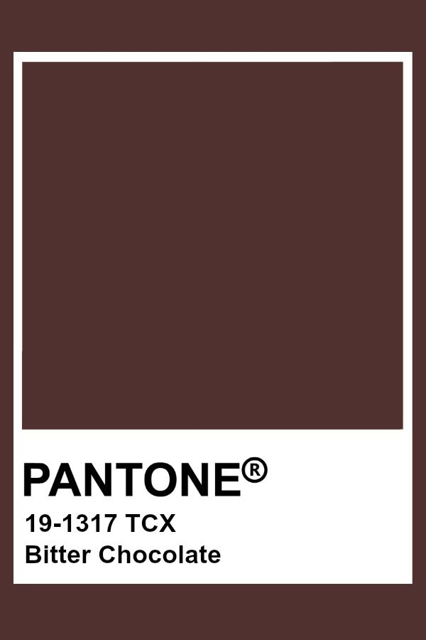Pantone Bitter Chocolate Pantone Colour Palettes