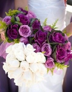 white and purple bouquets - Google Search