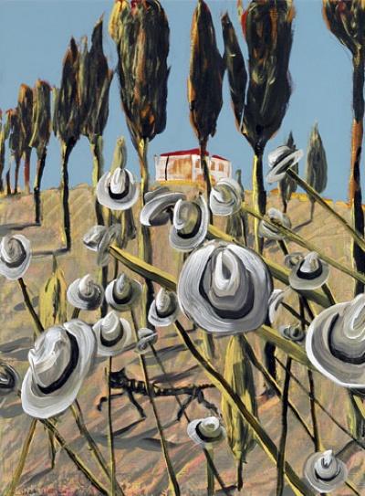 Nicolas Vial - Sasseta, le chat, 2004 Acrylique sur toile (130 x 97 cm)