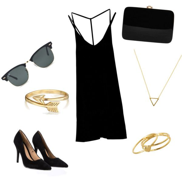 Simple but elegant outfit for everyday by sostudd on Polyvore featuring RVCA, Lipsy, Rocio, Gorjana, Wanderlust + Co, Bling Jewelry and Ray-Ban