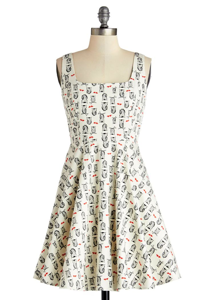 @Nastassia Ygraine Very Charming Dress in Owls, @ModCloth
