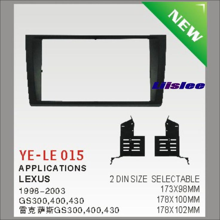 Buy US $30.45  For Lexus GS300 400 430 1998~2003 Aftermarket Radio Dash Board Kit 2 DIN ABS Plastic Fascias Car Audio Panel Frame Fascia  #Lexus #Aftermarket #Radio #Dash #Board #Plastic #Fascias #Audio #Panel #Frame #Fascia  #Internet