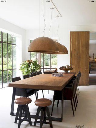 55 modern diy wooden dining tables ideas (32)