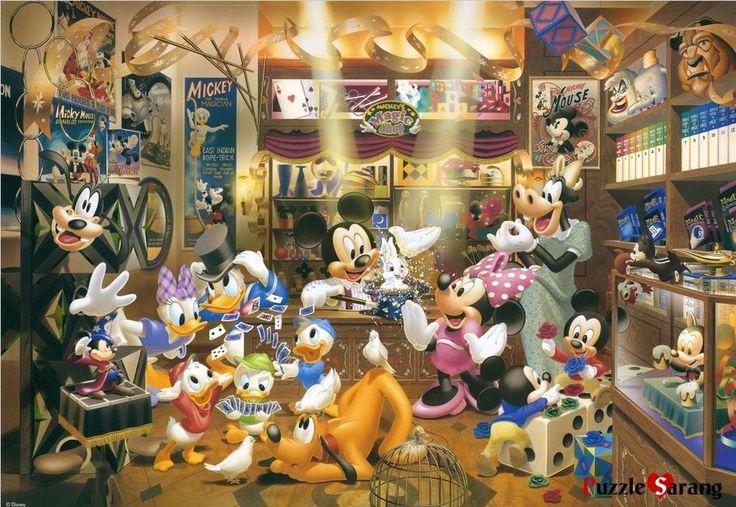 "Jigsaw Puzzles 1000 Pieces ""Mickey's Magic Shop"" Disney Tenyo D 1000 228 | eBay"