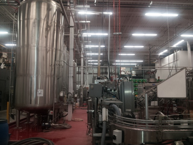 South side view of the Amsterdam Brewery. Fermentors and canning machine. #beer #breweries