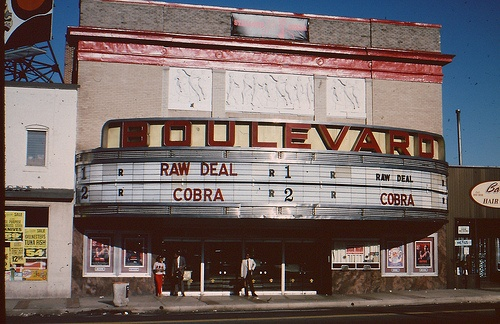 Boulevard Theatre Greenmount & 33rd Baltimore, MD 5-18-86. Omg- this brings back memories. I saw so many movies here growing up.