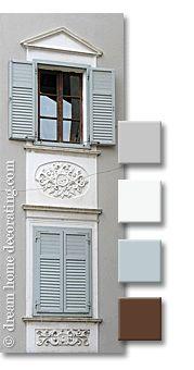 Tuscan exterior window treatments: exterior paint color combinations
