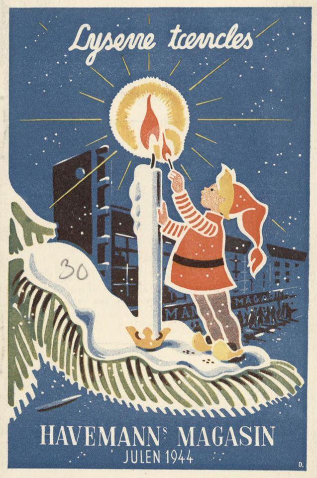 Lysene tændes - Jul i Havemanns - 1944
