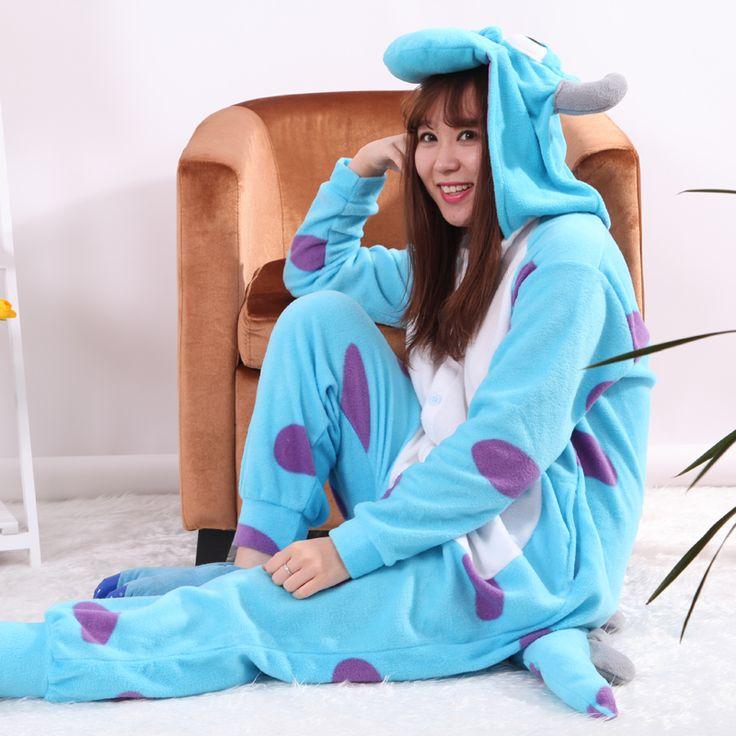 Wedtrend Skeleton Leopard Tiger Unisex Flannel Hoodie Pajamas Costumes Nightgowns Animal Onesies Sleepwears For Adults Women Men